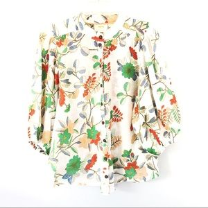 Maeve Multi-Color Floral Puff Sleeve Top